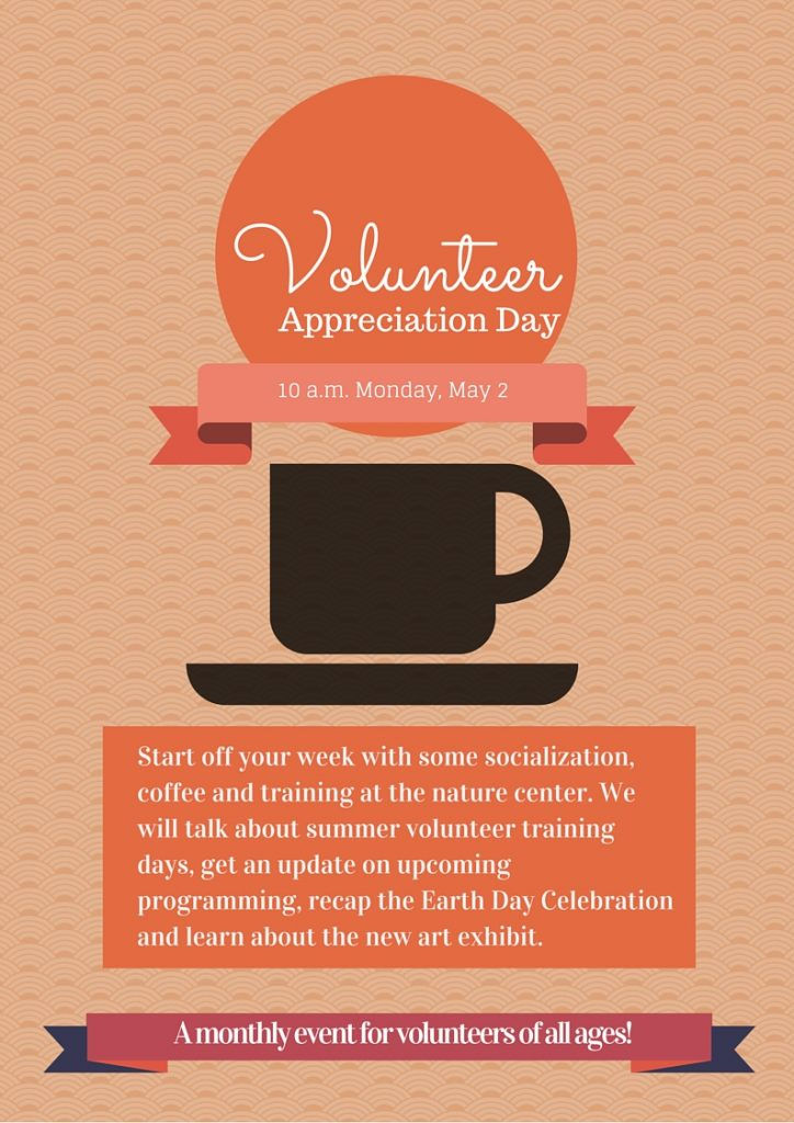 Graphic announcing Volunteer Appreciation Day