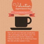 Graphic about Volunteer Appreciation Day