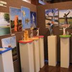Photo of sculpture exhibit