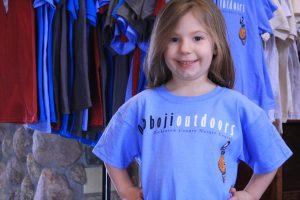 Photo of girl modeling T-shirt