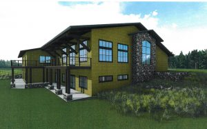 Photo of back of nature center addition