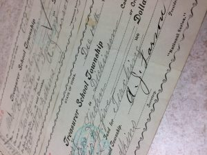 Photo of a paycheck stub from 1903