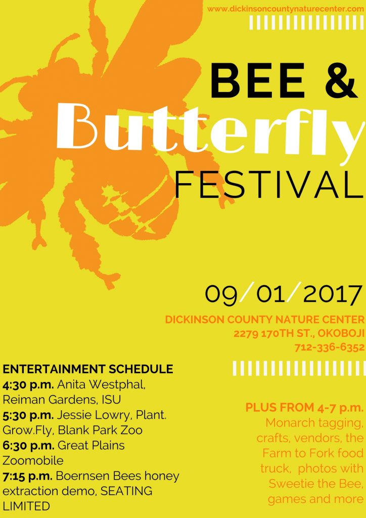 Graphic about the Bee & Butterfly Festival