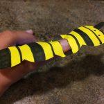 Photo of a caterpillar finger puppet
