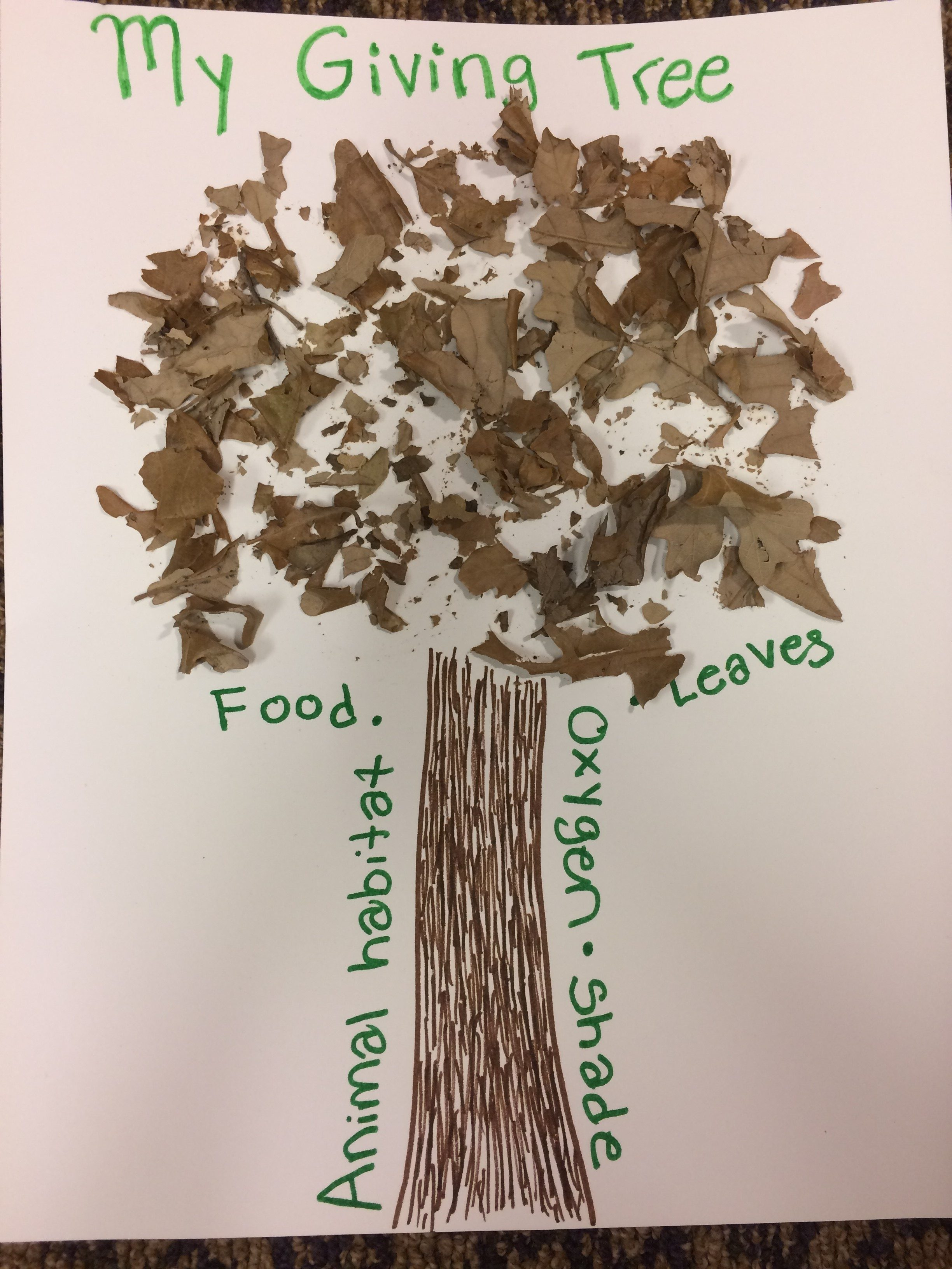 My Giving Tree craft – Dickinson County Conservation Board