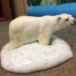 Photo of polar bear in slime
