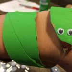 Photo of a snake cuff made from a toilet paper tube