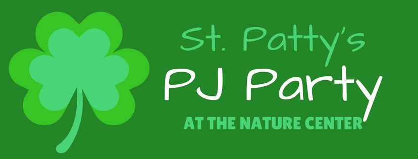 Graphic about a St. Patty's PJ Party