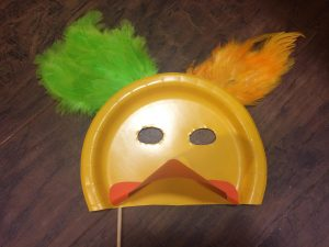Photo of a duck mask craft