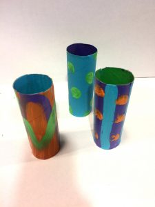 Photo of painted toilet paper rolls
