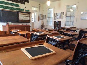 Photo of slates on desks