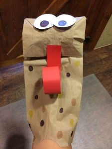 Photo of the completed puppet