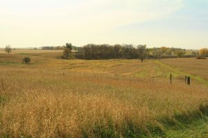 Photo of a prairie overlook with fall, dried grass