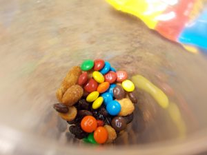 Photo of m&ms on trail mix