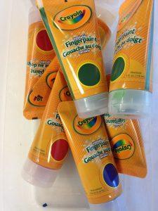 Photo of finger paint bottles