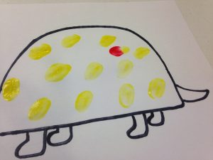 Photo of turtle picture with thumbprints