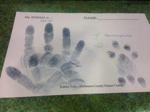 Photo of image using inked fingerprints