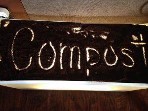 Photo of compost written in compost