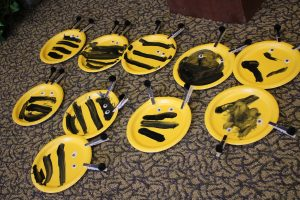 Photo of bees made from paper plates