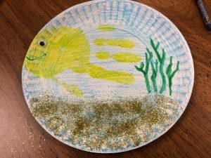 Photo of a fish handprint