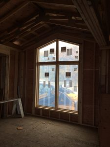 Photo of windows in construction area