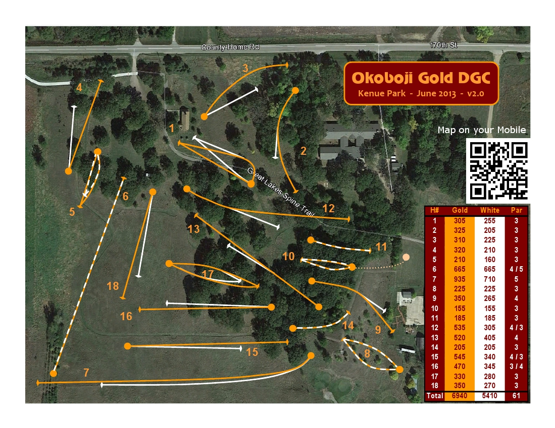 Map of the disc golf course