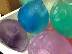 Photo of colored ice balloons