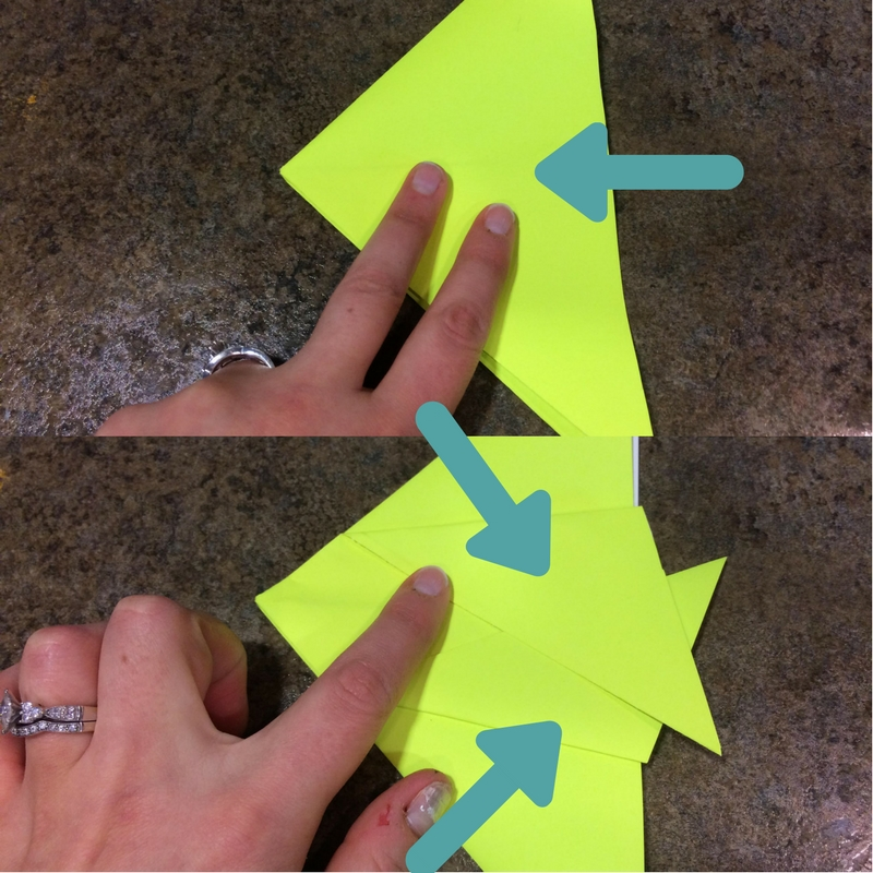 origami fish being folded