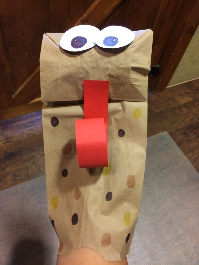 the completed puppet