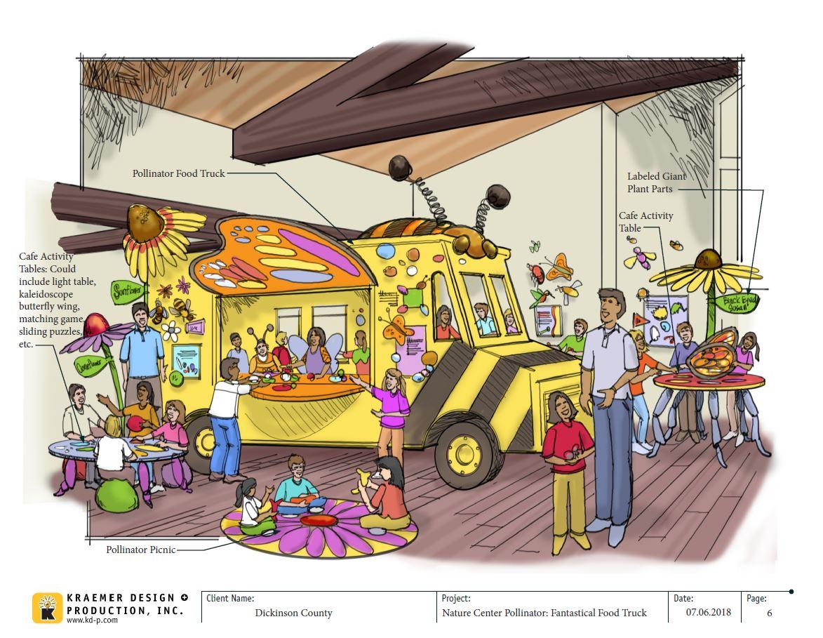 Graphic of food truck exhibit