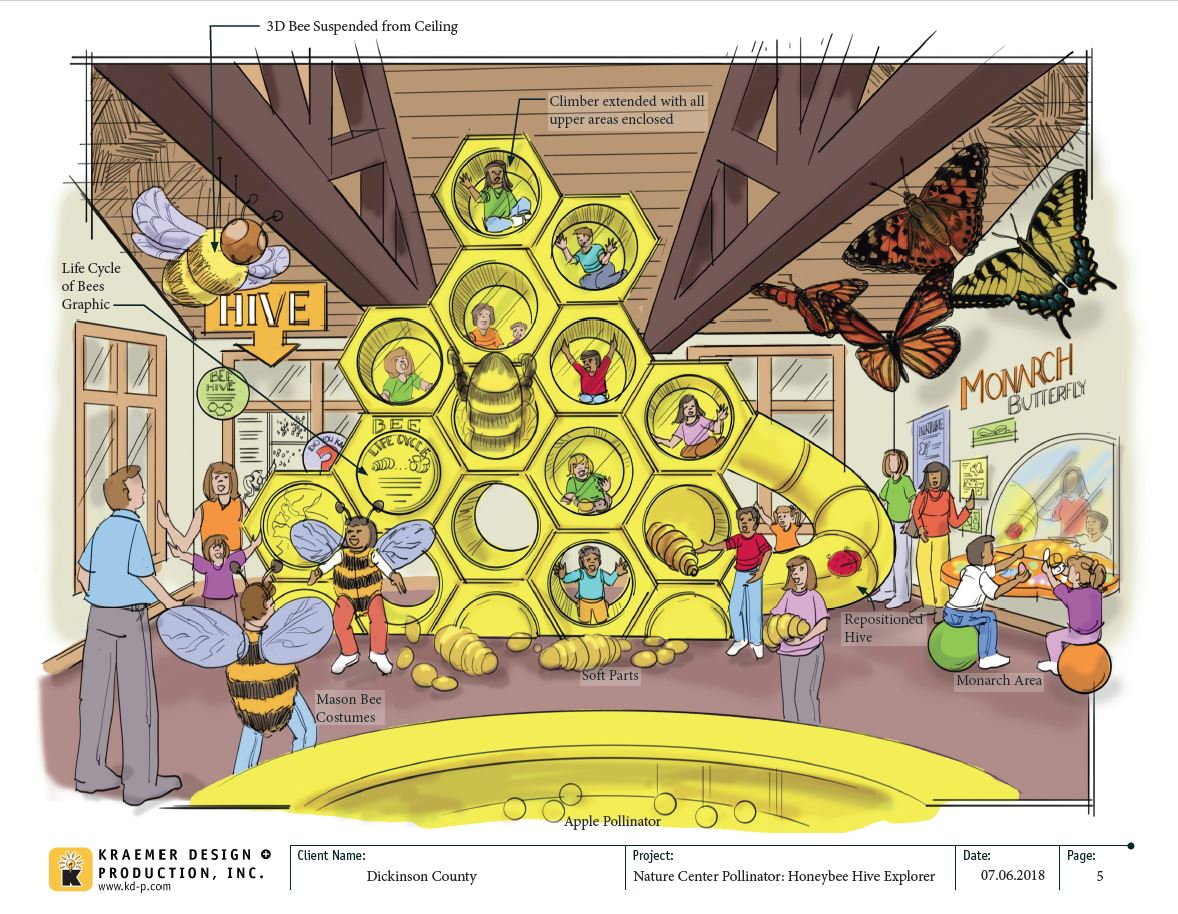 Graphic of honeycomb climber