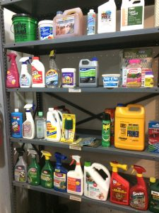 Photo of chemicals on a shelf