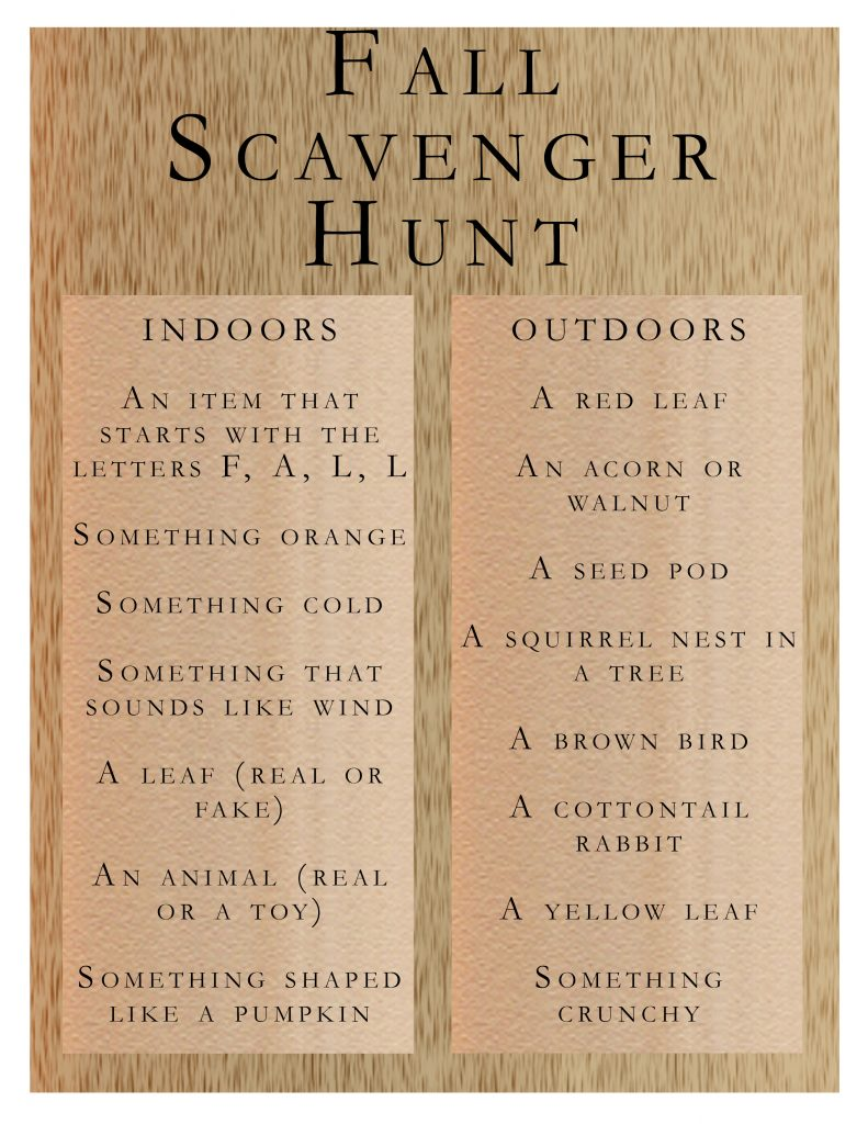 Graphic of scavenger hunt