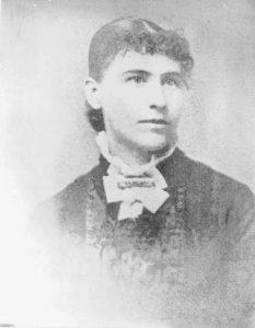Black and white photo of Abbie Gardner Sharp