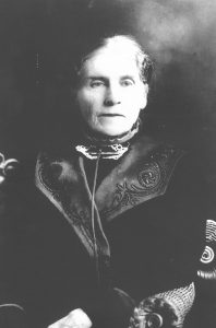 Photo of elderly Abbie Gardner Sharp