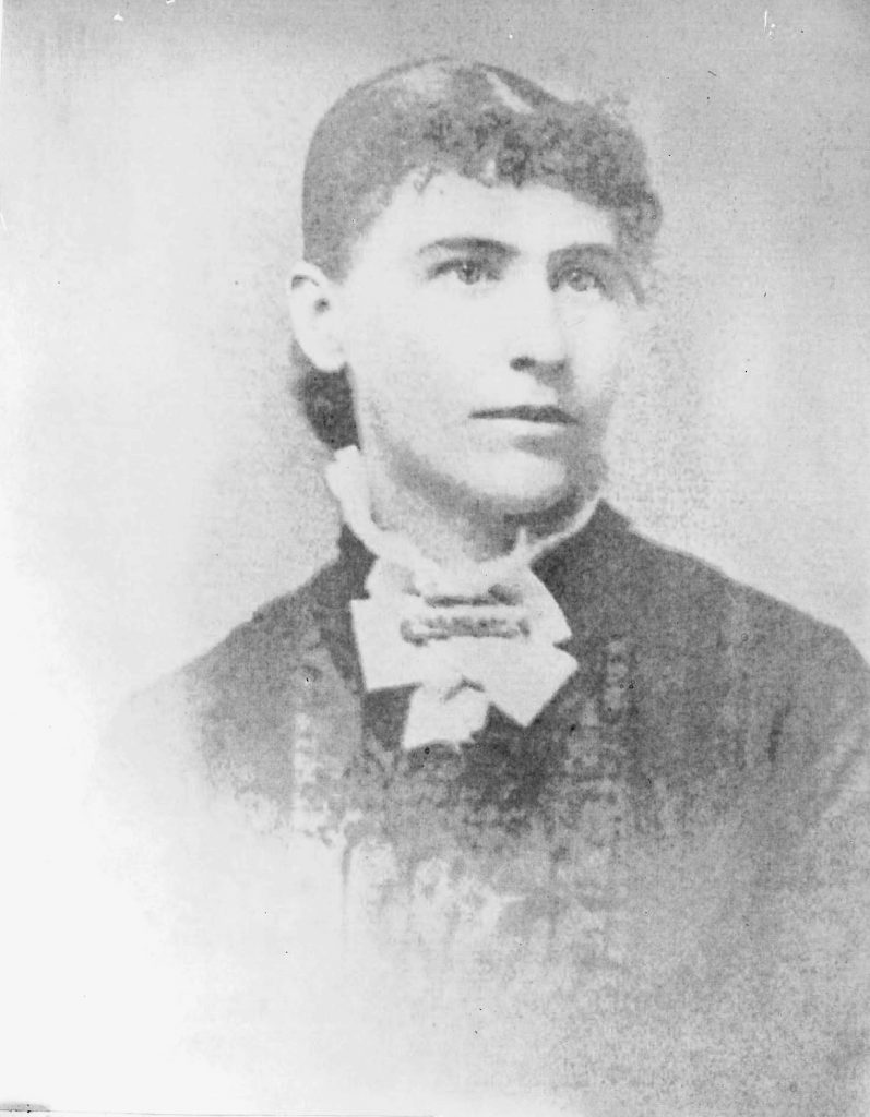 Black and white photo of Abbie Gardner Sharp
