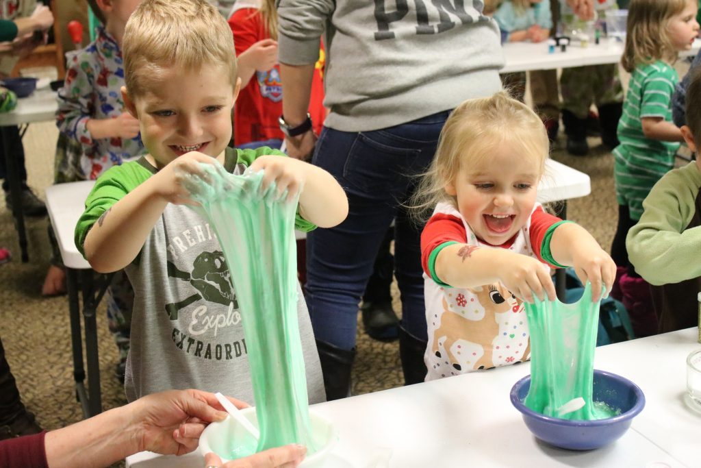 Photo of kids playing with slime