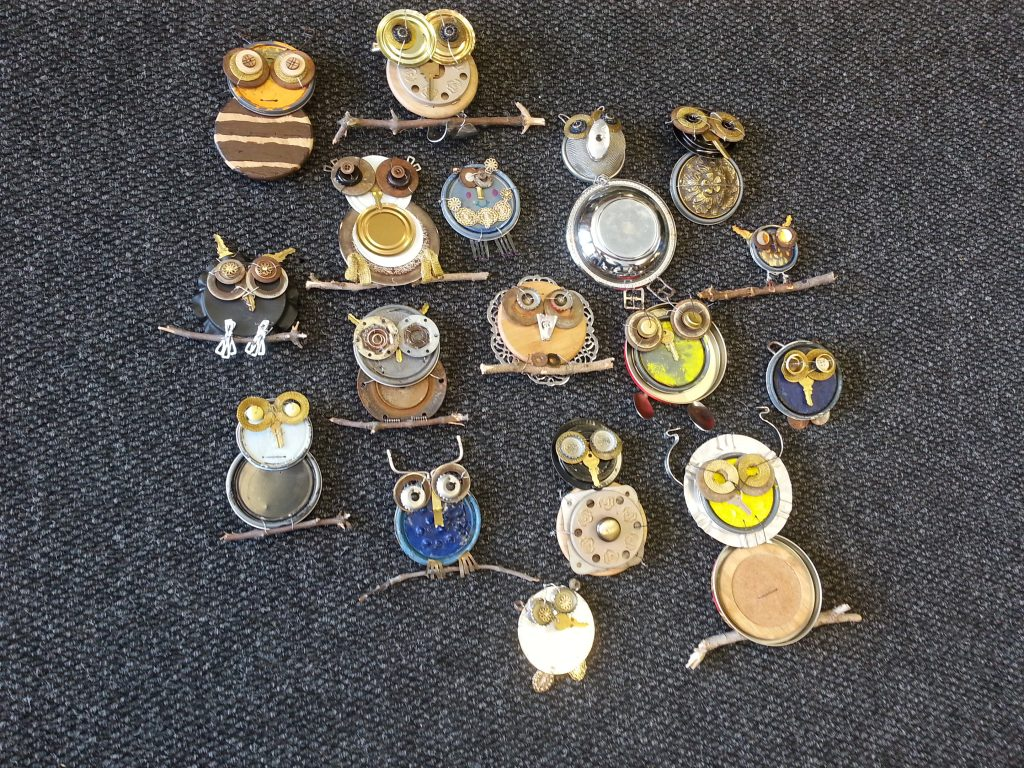 Photo of metal owls