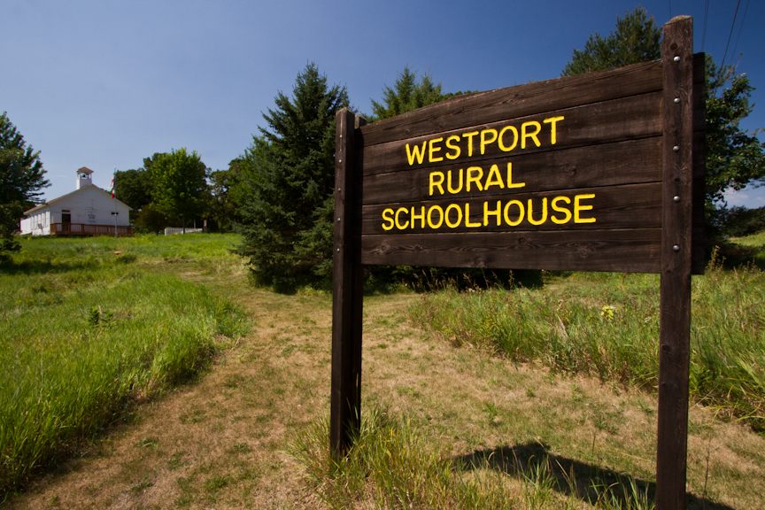 Photo of Westport Rural Schoolhouse sign