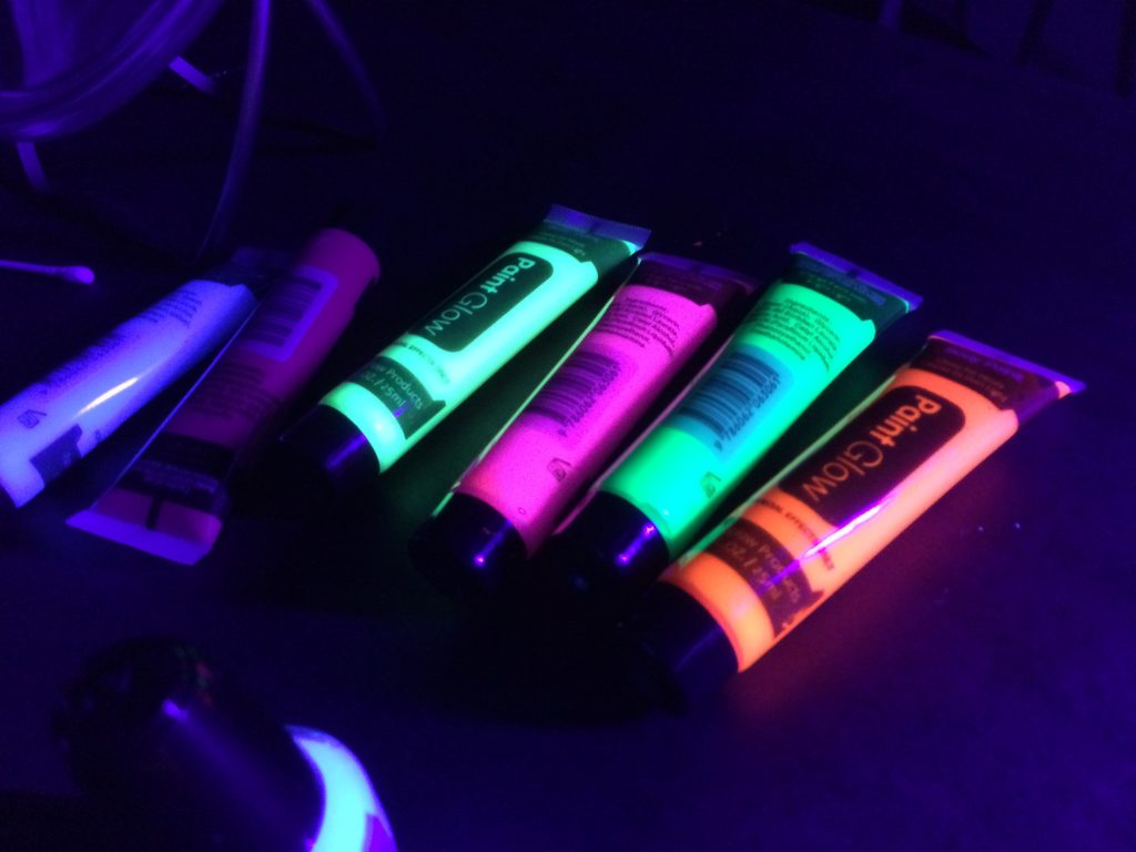 Photo of glow face paint