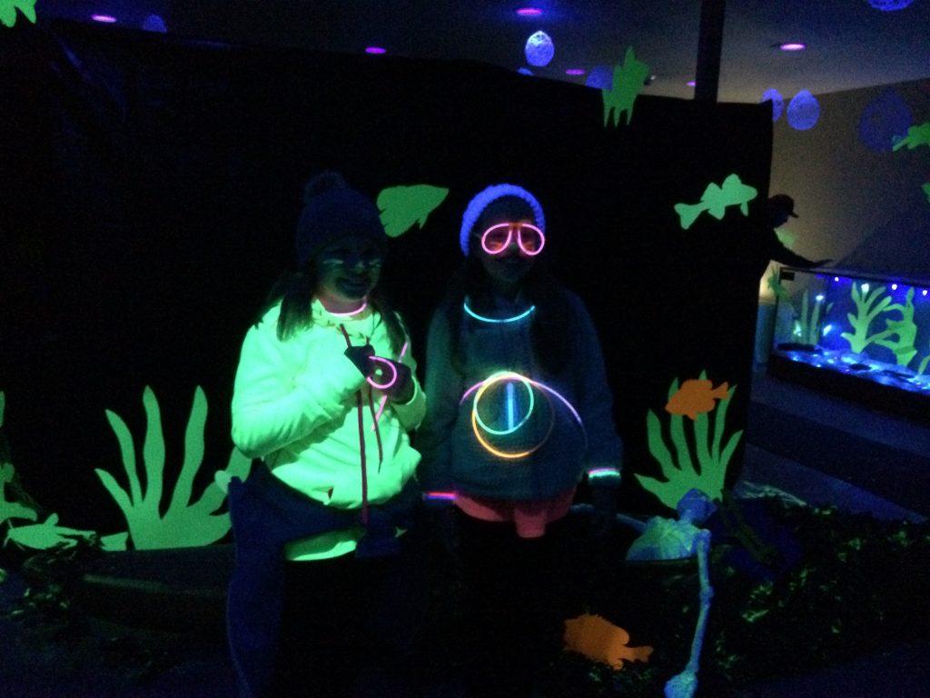 Photo of kids in glow gear