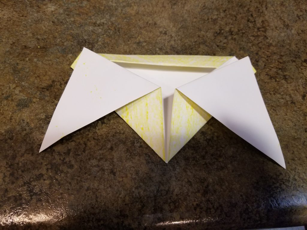 Photo of folded paper