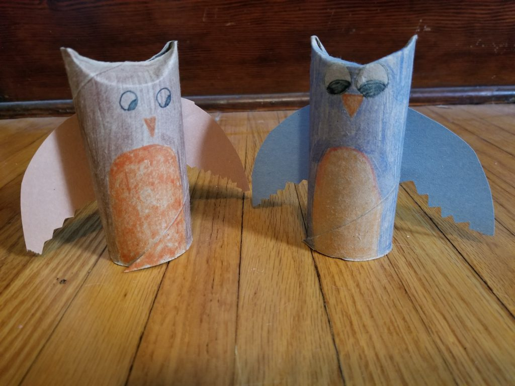 Photo of toilet paper tube birds