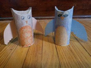 toilet paper tube birds