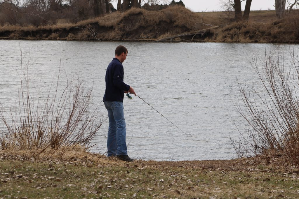 person fishing