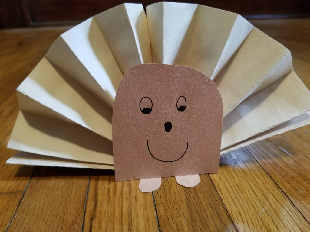 Photo of paper hedgehog