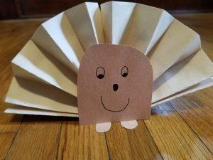 Photo of paper hedgehog