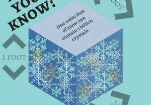 Graphic that says Did you know? One cubic foot of snow can contain 1 billion crystals.
