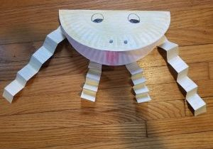 paper plate toad