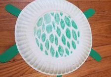 Photo of a paper plate turtle shell
